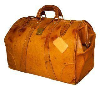 Vintage leather holdall